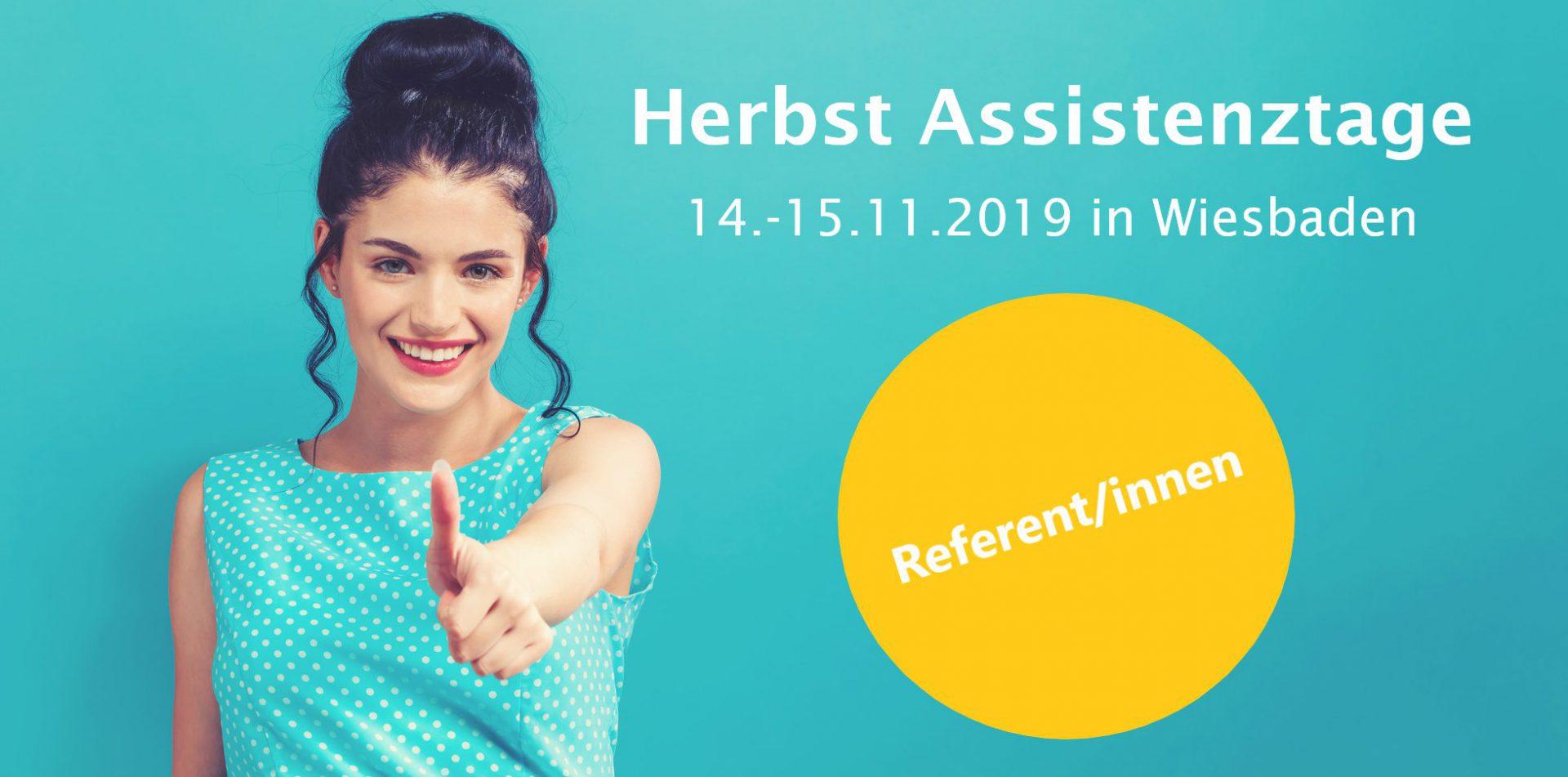 Herbst Assistenztage 2019 - ReferentInnen